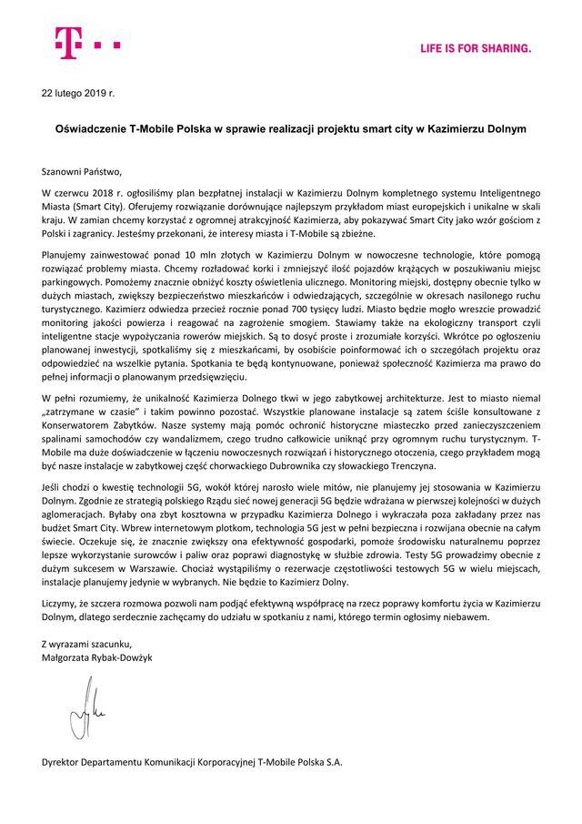 Kazimierz Dolny list otwarty blog