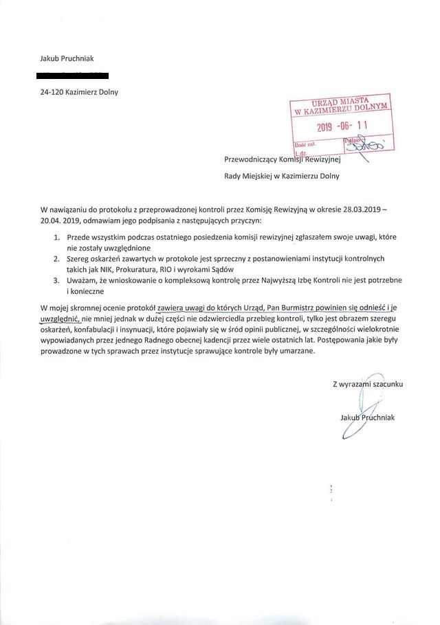 jakub pruchniak dot protokolu komisji rewizyjnej 481166 01