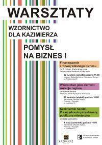 Warsztaty: Wzornictwo dla Kazimierza - pomysł na biznes!